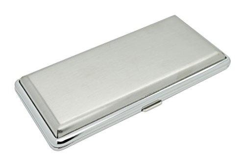 ZIGARETTENETUI für 120 mm Zigaretten - Silber matt