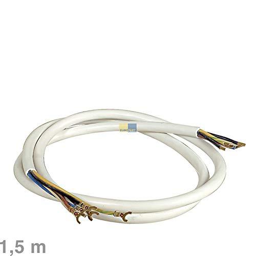 LUTH Premium Profi Parts Anschlusskabel für Herd 1,5m 5 x 1,5 mm² H05VV-F Steckkabelschuhe auf Quetschverbinder