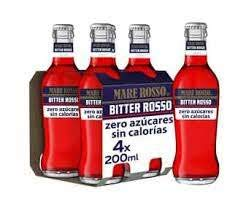 BITTER ROSSO SIN AZUCAR, SIN ALCOHOL PACK 24 BOTELLINES 200 ML