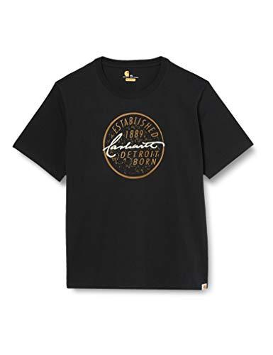 Carhartt Detroit Born Logo Short-Sleeve T-Shirt, Black, M Uomo
