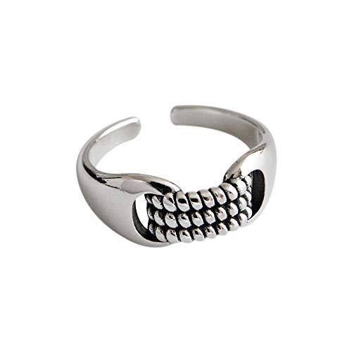 LYWZX Ringe Für Damen Verstellbar,Mode 925 Sterling Silber Twist Nudeln Offene Ringe Für Damen Mädchen Party Schmuck