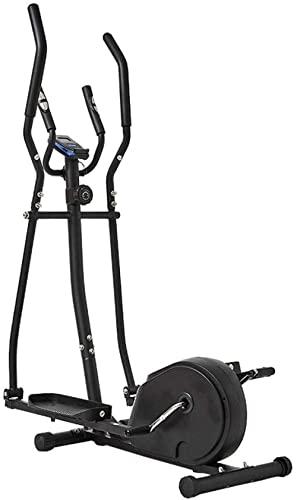 Macchina ellittica Trainer Macchina per esercizi ellittica per uso domestico Life Fitness Bike Resistenza magnetica Heavy Duty Extra-Large Pedal & amp Monitor LCD