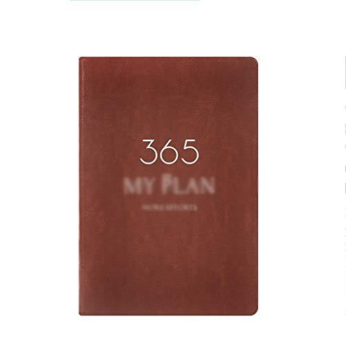 WFS Diarios Álbum de Fotos de época Cuaderno de Cuero Viaje DIY Agenda Firmar en Blanco con la Etiqueta Cuaderno Crossover Line Mes Plan portátil Notebook (Color : A, tamaño : 6PCS)