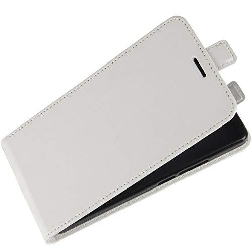 HualuBro Motorola One Fusion Plus Hülle, Premium PU Leder Brieftasche Schutzhülle HandyHülle [Magnetic Closure] Handytasche Flip Hülle Cover für Motorola Moto One Fusion+ Plus Tasche (Weiß)