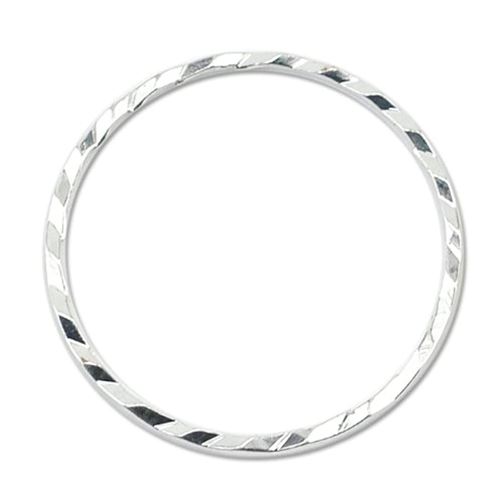 Artistic Wire Beadalon Quick Links Round 20mm Diamond Cut Silver, Plated, 10-Piece