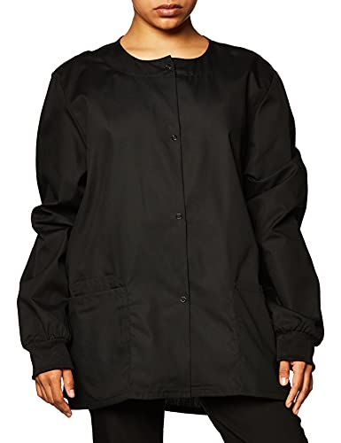 CHEROKEE Women's Warm Up Scrubs Jacket, Black, Medium