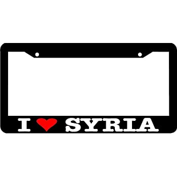 I LOVE SYRIA License Plate Frame