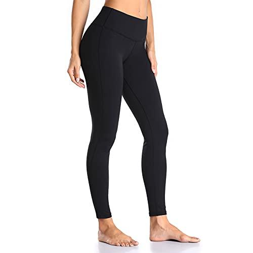 Damen Sport Leggings Anti-Cellulite Yogahosen mit Taschen,Blickdicht Sporthose für Gym Yoga Training