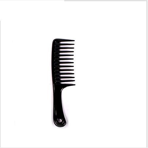Herramientas de corte de cabello Peine de goma dentada grande y peine antiestático Detangling Vary-24.5cm de colores para plástico para mujeres (Color : Black)
