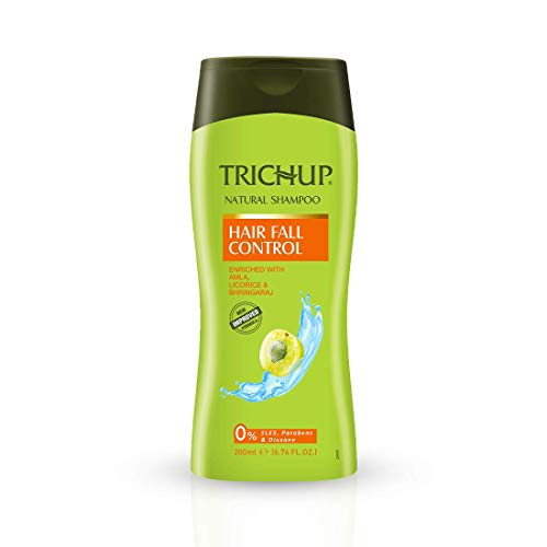 Trichup Hair Fall Control Herbal Shampoo - Enriched Amla, Licorice & Bhringaraj - Help to Reduce Hair Fall & Thinning Hair (200ml)