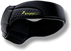 Storelli ExoShield Head Guard | Sports Headband | Protective Soccer Headgear | Black | Size 2