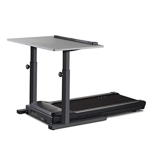 LifeSpan TR1200-DT5 Treadmill Desk | 48' Gray Desktop | Charcoal Manual-Height-Adjustable Frame |...