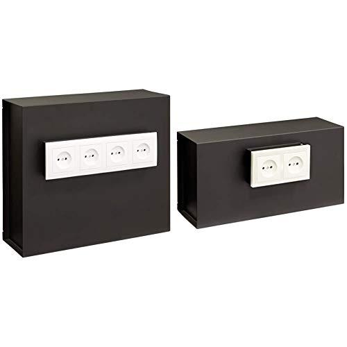 Arregui Caja Fuerte camuflada para Rejilla Enchufe Color Negro 23000W-S2 + 23000W-S1 Caja Fuerte Camuflada para Rejilla Enchufe, Negro