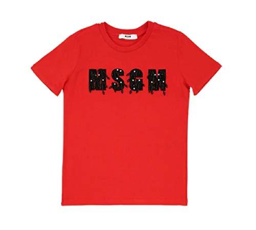 MSGM T-Shirt Bimba 018111 red ss19 12A