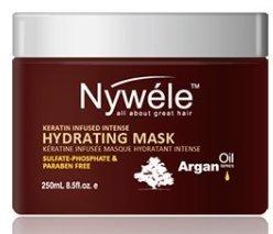 Nywele Keratin Infused Intense Hydrating Mask 8.5oz - SULFATE, ALCOHOL, PHOSPHATE & PARABEN FREE -  Nywele Professional, NYARG500