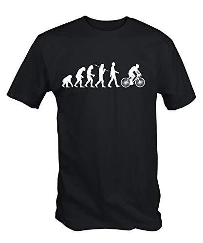 6TN Hombre Evolution de Ciclismo Camiseta de Manga Corta - Negro, Large