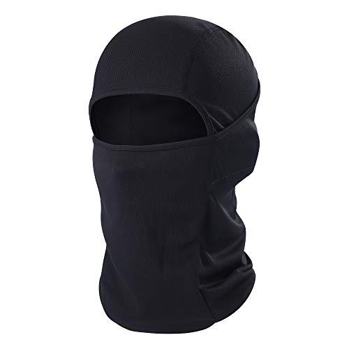 hikevalley Balaclava Face Mask Adjustable Windproof UV Protection Hood (Black)