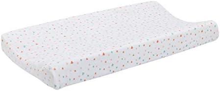 ED Ellen DeGeneres Cotton Tail - Soft Plush Velboa Multi Colored Hearts & Dots Changing Pad Cover, White, Rose, Aqua, Coral