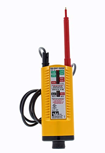 IDEAL INDUSTRIES INC. 61-065 Vol-Test Voltage Tester, CATIII for 600v,Yellow