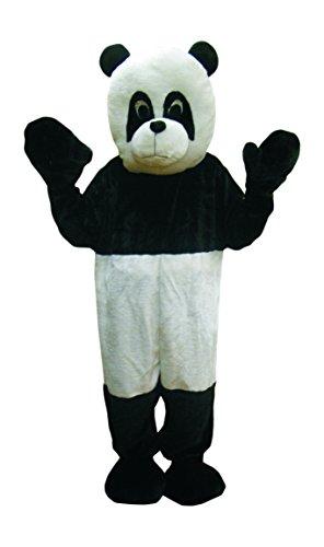 Dress Up America- Mascotte d'ours Panda Doux Noir-Costume Blanc (Kids X-Grande 16-18) Déguisement, 475-XL, Taille 14+ Ans (Taille: 90-109, Hauteur: 152+ cm), 35-43 60+ Pouces