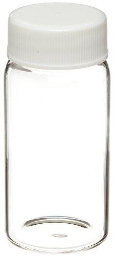 Kimble 74505-20 20mL Borosilicate Glass Scintillation Vial, with Polypropylene Cap and Foamed Polyethylene Liner, Case of 500