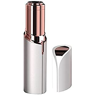 Flawless Women's Painless Facial Hair Remover,Linstar Painless Light Hair Removal Epilator Ladies Shaving Trimmer Device Gold-Plated (Rose Gold)