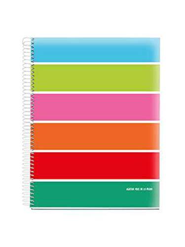 Miquelrius 46134 Cuaderno A5 120 Cuadrícula polipropileno Basics Agatha Ruiz de la Prada
