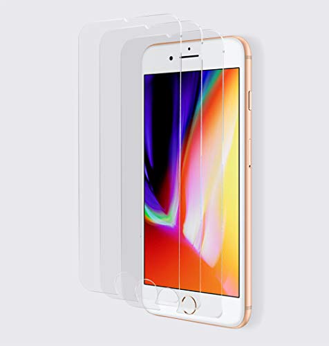 Elle Zells - [3 unidades] Protector de Pantalla compatible con iPhone 8 Plus / 7 Plus (5.5')