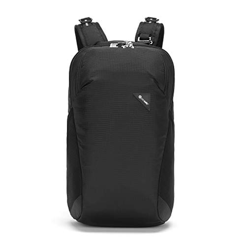 Pacsafe Spain Vibe 20 Mochila, Unisex Adulto, Jet Black