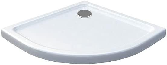 90 x 90 Plato de ducha Ducha extraplano, 50 mm cuarto circular (Color Blanco: Amazon.es: Hogar