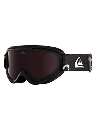 Quiksilver Jungen Snowboard-/Skibrille FLAKE - Snowboard-/Skibrille für Jungen 8-14, Black Snow Party, 1SZ, EQBTG03012