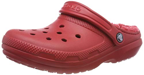crocs Classic Lined Clog, Unisex-Erwachsene Clogs, Rot (Pepper), 46/47 EU