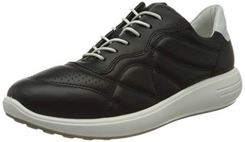 Ecco Damen SOFT7RUNNERW Sneaker, Schwarz (Black/White 50669), 38 EU