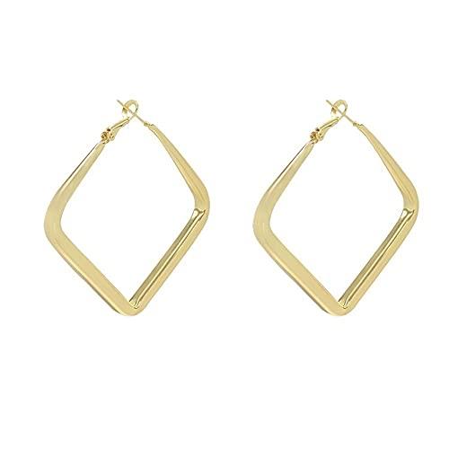 N\A Pendientes De Mujer, Pendientes Cuadriláteros Geométricos Pendientes Oro Mate Irregulares Regalos Personalizados Regalos De San Valentín Pendientes De Botón