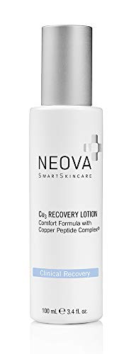 NEOVA SmartSkincare Cu3 Recovery Lotion with Copper Peptide keeps skin calm, soothed and hydrated.