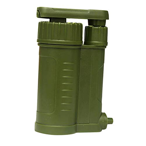 FITYLE Purificador de Agua portátil Bomba de carbón 0,01 micrones Filtro de Agua Equipo de Supervivencia de Emergencia al Aire Libre Lluvia Corriente de Río