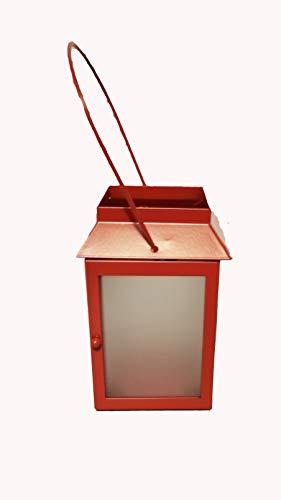 ShoppeShare Roter Miniatur-Teelicht-Laterne, Heimdekoration und Kerzen – Retired PartyLite