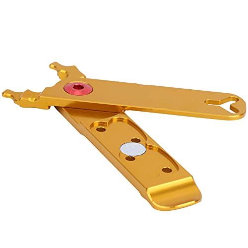 Alicates de Cadena de Bicicleta, alicates de Enlace Maestro, aleación de Aluminio, para Desmontar el núcleo de la válvula