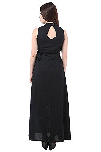 My Swag Women's A-Line Maxi Dress (DRS-00134-BK-XL_Black_X-Large)