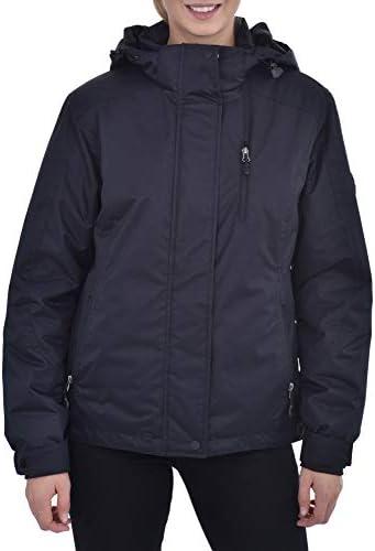Swiss Alps Womens Insulated Waterproof Performance Winter Ski Jacket Coat Deep Black XS product image