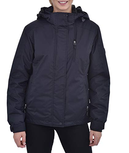 Womens Insulated Waterproof Performance Winter Deep Black Ski Jacket
