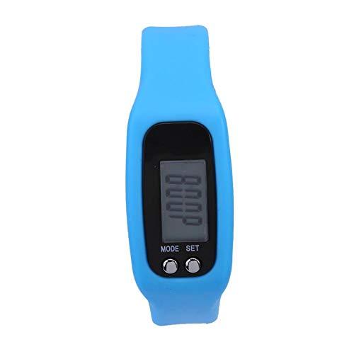 FOLOSAFENAR Pantalla Grande plástica del ABS del perseguidor de la Aptitud del Contador de Pasos Durable, Aptitud, Ahorra energía, Contador de calorías(Sky Blue)