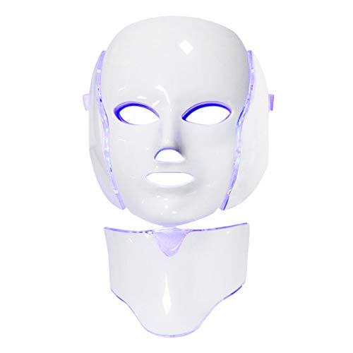 Almencla Tratamento com Luz LED Photon Terapia com Máscara de 7-Cor, Beleza Rosto Cuidados com a Pele Máscara de Fototerapia-Plug EUA