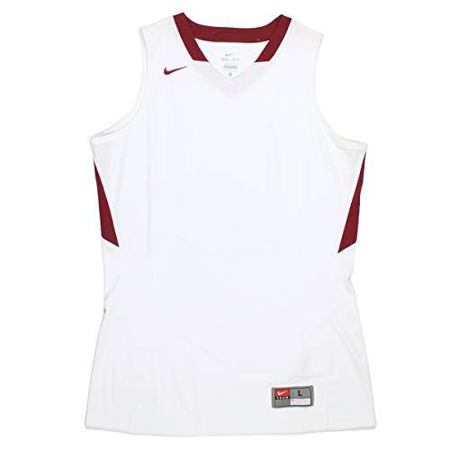 Nake Nike Women's White/Maroon Basketball Tank Top Jersey (L)