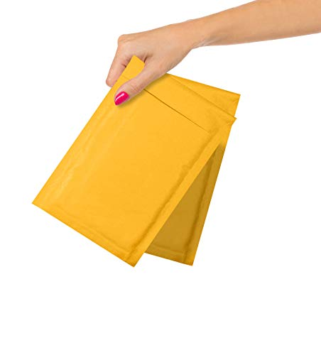 ABC Pack of 25 Gold Kraft Bubble Padded Envelopes 6.5 x 9. Kraft Bubble Peel and Seal Envelopes. Yellow Kraft Bubble Mailers 6 1/2 x 9. Shipping Bags for Mailing, Packing, Packaging. Wholesale Price