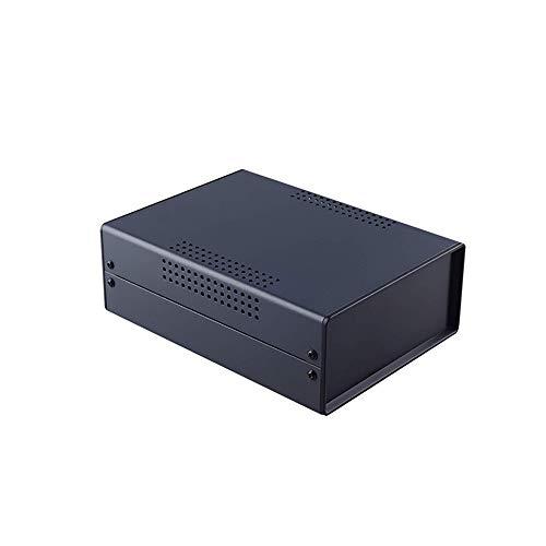 Bahar Enclosure Metallgehäuse Iron Case Eisen Gehäuse Hard Box Desktop Case Leergehäuse Schutzgehäuse Schwarz BDA 40004-A2 (W200)