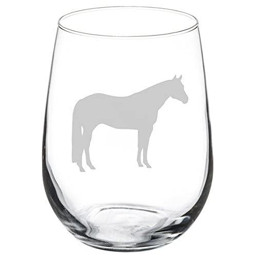 Copa de vino Quarter Horse sin tallo de 11 onzas