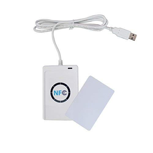 ETEKJOY ACR122U NFC RFID 13.56MHz Contactless Smart Card Reader Writer w/USB Cable, SDK, 5X Writable IC Card (No Software)