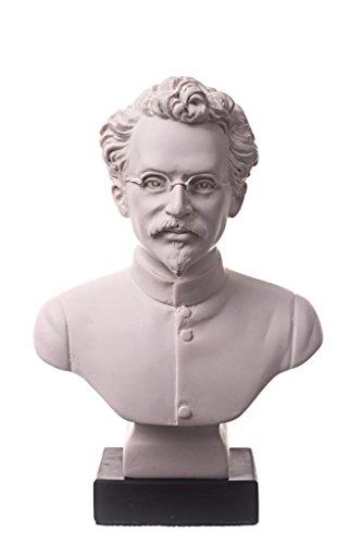"Danila-souvenirs soviético russo USSR comunista Leon Trotsky mármore busto estátua escultura 6,3"" branco"