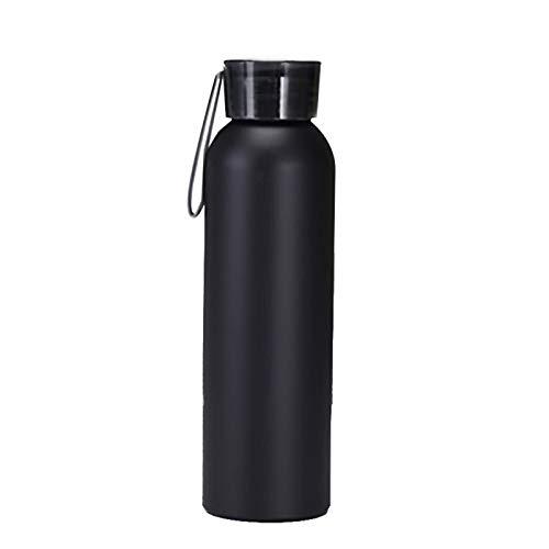 BUMSIEMO 1 unid agua inoxidable botellas botella deportes hacer deportes fríos agua arco iris frasco acero caliente a prueba de fugas negro